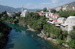 View of Mostar, Bosnia & Herzegovina Stock Photos