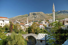 Mostar in bosnia herzegovina Royalty Free Stock Image