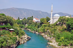 View of Mostar old town Stock Photos
