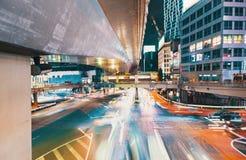 View of motion blurred traffic in Shibuya, Tokyo, Japan Royalty Free Stock Photos