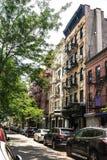 View of Mott Street, Manhattan, NYC royalty free stock photos