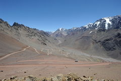 View of mount Aconcagua. On argentina andes Royalty Free Stock Photos