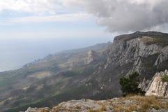 View from Mount Ai-Petri. At sea. Crimea stock photography