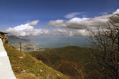 View from the Mount Ai-Petri in Crimea Royalty Free Stock Photography