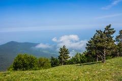 View from Mount Ai-Petri, Crimea. Beautiful nature of Crimea stock photo