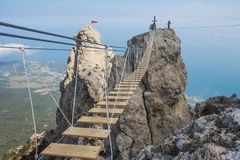 View from Mount Ai-Petri, Crimea. Beautiful nature of Crimea. View from the mountain royalty free stock image