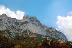 View of Mount Ai-Petri. Crimea. View of Mount Ai-Petri from the shore of the Black Sea Crimea Royalty Free Stock Image