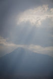 View of mount Ararat. Color image of mount Ararat, viewed from Armenia Stock Photo