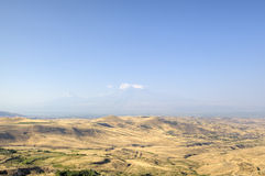 View of Mount Ararat in a haze. Armenia Royalty Free Stock Photo