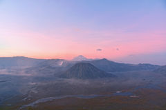 View of Mount Bromo and Batok Royalty Free Stock Image