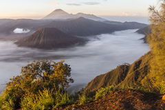 View on Mount Bromo landscape at sunrise Royalty Free Stock Photos