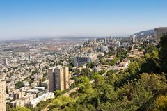 View from Mount Carmel to Haifa in Israel Royalty Free Stock Photography