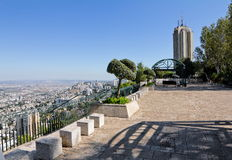 View from Mount Carmel to Haifa in Israel Stock Photos
