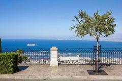 View from Mount Carmel to port and Haifa in Israel Royalty Free Stock Image