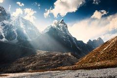 View of Mount Cholatse in Himalaya mountains, Nepal. Everest Base Camp trek, Sagarmatha national park royalty free stock photography