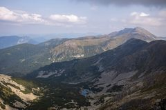 View from Mount Chopok in Sunny Day, ski resort Jasna, Low Tatras National Park in Slovak Republic royalty free stock photos