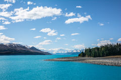 View of Mount Cook and Lake Pukaki, New Zealand Royalty Free Stock Images