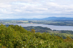 View from Mount Defiance. View from Mount Defiance, near Fort Ticonderoga at the southern end of Lake Champlain stock photography