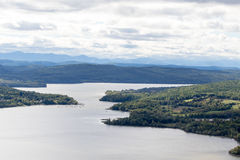 View from Mount Defiance. View from Mount Defiance, near Fort Ticonderoga at the southern end of Lake Champlain royalty free stock images