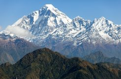 View of mount Dhaulagiri Royalty Free Stock Images