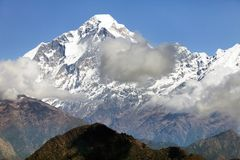 View of mount Dhaulagiri Stock Images
