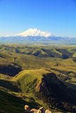 View of Mount Elbrus. Bermamyt plateau. Caucasus, Russia Stock Image
