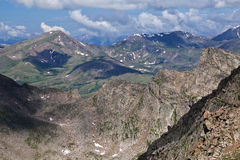 The View From Mount Evans, Colorado. This is a view of some of the mountains surrounding Mount Evans in Colorado royalty free stock photos