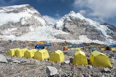 View from Mount Everest base camp royalty free stock images