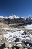 View of Mount Everest and Gokyo Lake. Royalty Free Stock Photo