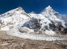 View of Mount Everest, Lhotse and Nuptse Stock Photos