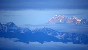 View of Mount Everest. From Nagarkot, Kathmandu, Nepal stock photo