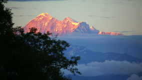 View of Mount Everest stock video
