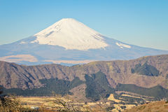 View of Mount Fuji. From the mountainside of Hakone royalty free stock photos