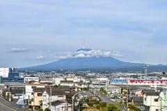 View of Mount Fuji from Shin-Fuji Station. View of Mount Fuji from Shin-Fuji Shinkansen Station in November royalty free stock photos