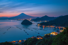 View of Mount Fuji with Suruga bay royalty free stock photos