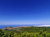 View from Mount of Garajonay on Gomera Royalty Free Stock Photography