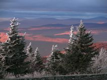 View From Mount Greylock. View from summit of Mount Greylock in Adams, Massachusetts stock image