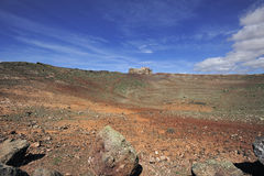 Mount Guanapay and Castillo de Santa Bárbara, Lanzarote, Canary Royalty Free Stock Photos