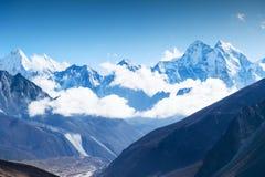 View of Mount Kangtega in Himalaya mountains, Nepal. Everest Base Camp trek, Sagarmatha national park royalty free stock images