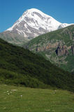 View on Mount Kazbek, Caucasus Stock Images