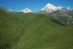 View on Mount Kazbek, Caucasus, Georgia Stock Photography