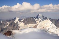 The view from Mount Kazbek (Georgia) Stock Image