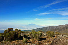 View from Mount Kilimanjaro Stock Photo