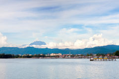 View of Mount Kinabalu in the distance Royalty Free Stock Images