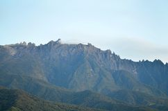 View of mount kinabalu in the morning. Stock Photos