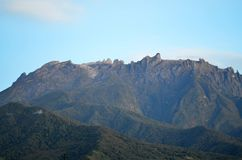 View of mount kinabalu in the morning. royalty free stock photography
