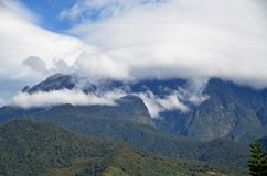 View of mount Kinabalu peak with beautiful cloud formation Stock Photography