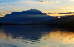 View of mount Kinabalu at sunrise in Sabah, Borneo Stock Image