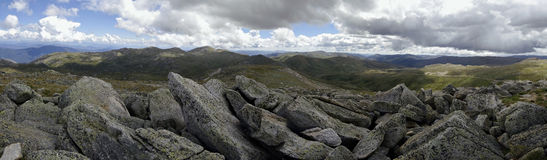 View from Mount Kosciuszko, Australia. View from Mount Kosciuszko in the Snowy Mountains, New South Wales, Australia Royalty Free Stock Photo