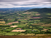 View from Mount Leinster, Central Ireland Stock Images